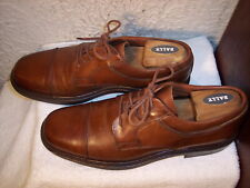 Johnston & Murphy Passport 10M Brown Leather Cap Toe Derby Oxford Shoes Italy