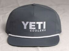 Yeti Men's Grey with Rope Trim Snap Back Cap new with tags
