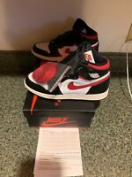 Nike Air Jordan 1 Retro High OG Black/Gym Red Size 7Y