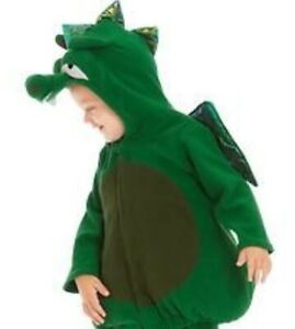 Old Navy Plush Padded Dragon Hoodie Jacket Baby Infant Warm Costume 6-12mo NWT