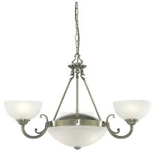 Searchlight Windsor Antique Brass & Glass 200w Ceiling Light 3775-5ab