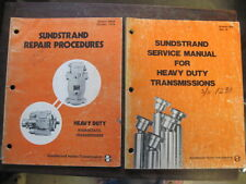 OEM SUNDSTRAND SHOP SERVICE REPAIR and REPAIR PROCEDURES Manuals Books