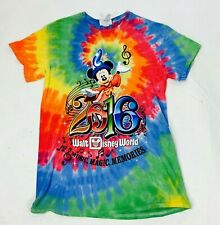 """VINTAGE DISNEY MICKEY MOUSE GRAPHIC T SHIRT 2016 TIE DYE WOMENS SMALL 16"""""""