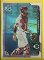 Tyler Stephenson RC 2015 1st Bowman Draft Chrome Refractors Rookie Card #13 Reds