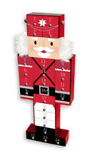Wooden Nutcracker Advent Calendar Christmas Decoration 24 Drawers To Fill GZ702