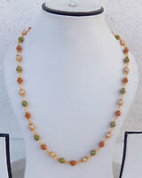 South Indian Jewelry Ethnic Gold Plated Beaded Necklace Chain 22k Light Mala b23