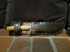 Rare American Mork Custom Stag Bowie Vintage Usa Hunting Knife Mork Sheath CE3