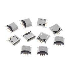 Type B Micro USB Female Socket 180 Degree 5-Pin SMD SMT Soldering Jack 10 Pcs