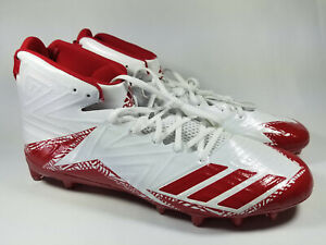 Adidas Freak X Carbon Mid Football Cleats, B42577, White / Red, Men's 15, New