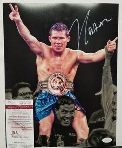 JULIO CESAR CHAVEZ Signed Autographed Boxing Legend 11x14 Photo. WITNESS JSA