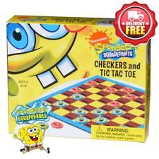 Spongebob Squarepants Checkers & Tic Tac Toe Travel Game New Licensed