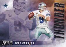 Tony Romo, Dez Bryant - 2016 Panini Playoff, Pennants,Thunder & Lightning