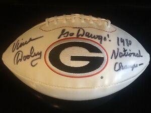 Vince Dooley Signed 1989 Nationak Chamos Georgia Bulldog Football JSA!