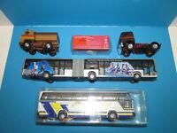 Konvolut 5 alte Herpa Rietze Modellautos 1:87 Spur H0 Busse LKW Moskwitch 403