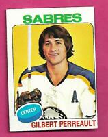 1975-76 TOPPS # 10 SABRES GILBERT PERREAULT EX-MT CARD (INV# C1582)