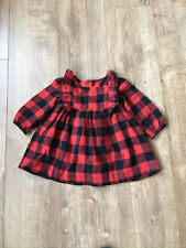 Baby GAP Girl Red Gingham Checked Dress 6-12 Months