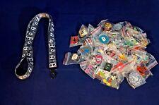 Disney World Pin Trading Lot Lanyard Starter Grey Jack Skellington Set & 25 Pins