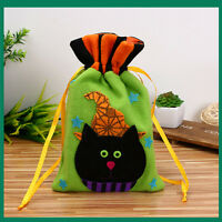 Halloween Candy Bag Satchel Rucksack Bundle Pocket Drawstring Storage Bag Gift