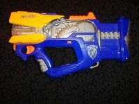 Blue Nerf N Strike Firefly Rev 8 Blaster Dart Gun - FREE SHIPPING