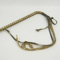 """Antique Braided Leather Small Horse Buggy Whip 22"""" Total Length"""