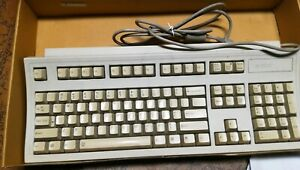 Vintage USED HP Wired Terminal Keyboard Clicky Beige PS2 C3758-60201 3537 AS IS