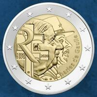Frankreich - Charles de Gaulle - 1890 - 1970 - 2020 - 2 Euro 2020 BU Coincard ..