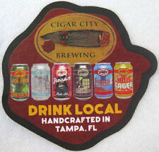 CIGAR CITY BREWING Beer COASTER, Mat with 6 OF their BREWS, Tampa, FLORIDA 2015