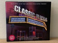 CLASSIC FLICKS  Featuring 40 Of The Greatest Ever Movie Themes!  3xCD's  (CD24)