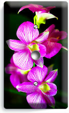 Tropical Orchid Flowers Light Dimmer Cable Wall Plates Floral Bedroom Room Decor