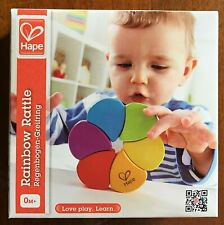 HAPE Rainbow Rattle. Suitable from birth. Excellent quality, stimulating. Baby