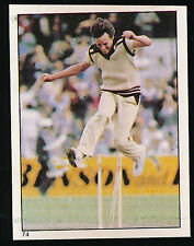 1983 Scanlens Cricket Sticker unused number 74 Martin Sneddon