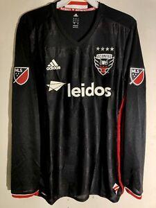 Adidas Authentic MLS Long Sleeve Jersey Washington D.C. United Team Black sz L