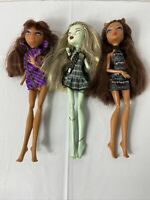 Monster High Dolls 2008 Lot Of 3 Frankie Clawdeen Missing Hands