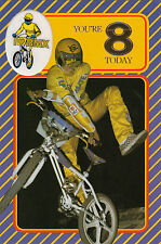 Vintage 1980's Ultimate BMX Happy 8th Birthday Greeting Card ~ 8 Years Old