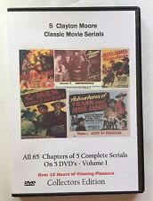 All 10 Complete Clayton Moore uncut Serials -  Cliffhanger Movies Volume 1 & 2