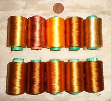 10 Art Silk Rayon Machine Embroidery Thread 984 yds Gld #025QH