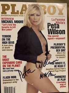 Peta Wilson  Signed Playboy Magazine