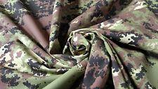 "European Woodlands Military Camo Nylon Cotton Ripstop 66""W Camouflage Fabric"