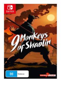 9 Monkeys of Shaolin Nintendo Switch Brand New Sealed Free Postage