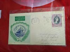 malaysia Malaya 1953 Coronation Queen GREEN SHIP QE II FDC MALACCA SLOGAN