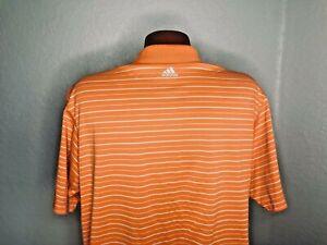 Men's Adidas Golf S/S Polo/Golf Shirt Size Large (L) ClimaLite ORANGE/WHITE
