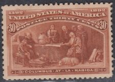 USA Scott #239 30ct Columbian Mint Never Hinged Xf Centering Jumbo GEM CV $725