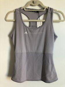 NWT Adidas Stella McCartney Parley Racerback Tank Top Violet Gray Sz Small
