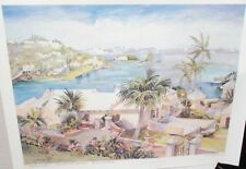 """CAROLE HOLDING """"WATERLOT"""" SOUTHAMPTON BERMUDA HAND SIGNED IN PENCIL LITHOGRAPH"""