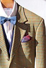 Bespoke 44 Gentleman's 3-Button Olive Check Sport Coat