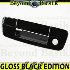2009-2017 RAM 1500 GLOSS BLACK Tailgate Handle Cover Overlay w/keyhole no camera
