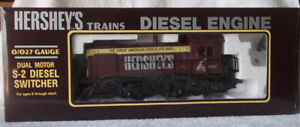 K-Line O/027 Gauge Dual Motor S-2 Hershey's Diesel Switcher 2323 In Box 1992