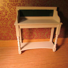 Dollhouse miniature ~ Wash stand tiled ~ 1/12 scale