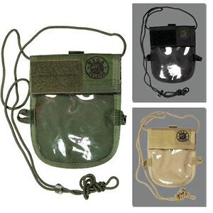 Portadocumenti Badge da collo Vega Holster 2WM02 cordura Verde nero Tan