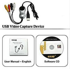 USB to 3 RCA Composite S-Video TV VHS DVD Gamebox Video Capture PC Adapter Win10